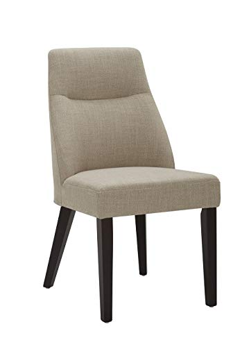 CHITA MidCentury Modern Dining Chair Upholstered Fabric Chair in KnockedDown Design Flax