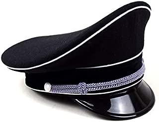 Replica WWII German Elite Officer Wool Hat Officer Cap Black