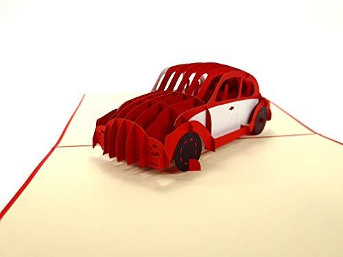 3D Pop-Up Karten Volkswagen Käfer das Kultauto Big 3D Pop-Up Karte Geburtstagskarte Hobby Passion Cars Truck Geburtstagskarte Geburtstagswünsche