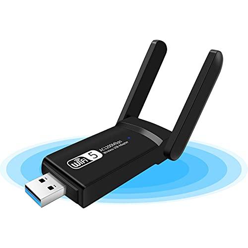 KagoLing Adattatore USB Wireless Dongle, 1200Mbps WiFi ad Alta velocità WiFi Dual Band 2.4G 5G USB 3.0 Wifi Stick Mini Scheda di rete per PC Desktop Tablet Laptop, supporto Windows, Linux, Mac Os X