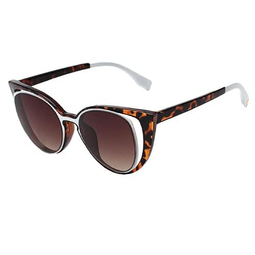 NBJSL Ojo de gato Película de color personalizada Gafas de sol para mujer Gafas de sol con protección Uv para mujer Exquisito embalaje de regalo