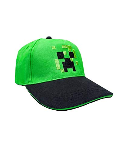 Vanilla Underground Minecraft Boys/Youth Baseball Snapback Caps (Creeper Diamond Steve Overworld)