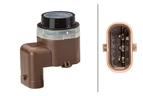 HELLA 6PX 358 141-121 Sensor, Einparkhilfe - gewinkelt - 3-polig - gesteckt - lackierbar