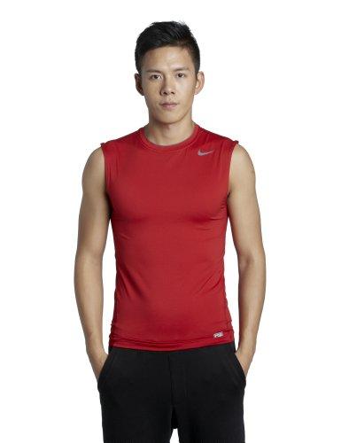 NIKE Sleeveless - Camiseta de Deporte para Hombre, tamaño XL, Color Rojo/Gris