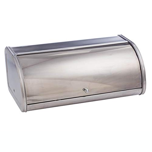 Home Marketplace Oversized Stainless Steel Bread Box, Silver
