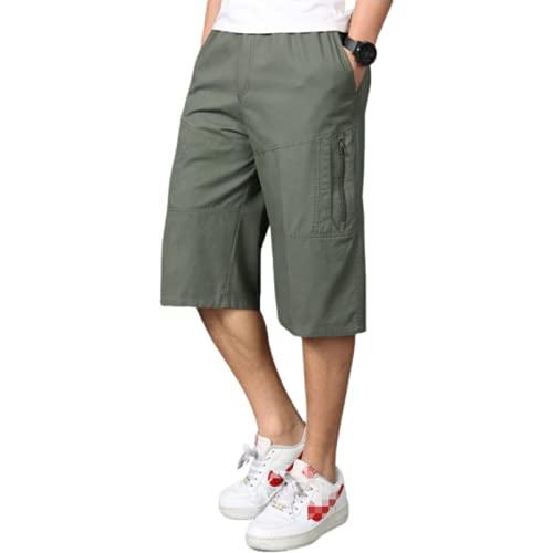 Pantalones Cortos Rectos para Hombre de Moda de Gran tamaño Color sólido Simple cómodo Suelto Ocio Fitness Deportes Pantalones Cortos de Carga 5XL