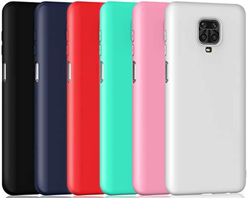 ivoler 6 Stücke Hülle für Xiaomi Redmi Note 9S / Xiaomi Redmi Note 9 Pro, Ultra Dünn Tasche Schutzhülle Weiche TPU Silikon Gel Handyhülle Hülle Cover (Schwarz, Blau, Rot, Grün, Rosa, Weiß)