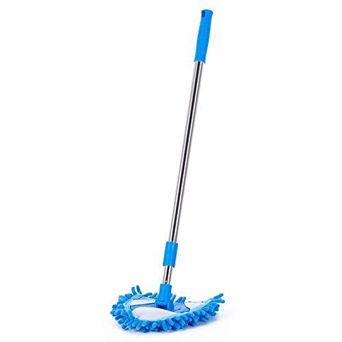 LJJ Limpieza de triángulo Ajustable Giratorio de 180 Grados, trapeador Azul, baño para Uso doméstico, Techo, Suelo de Techo, Microfibra MOP (tamaño : Mop)