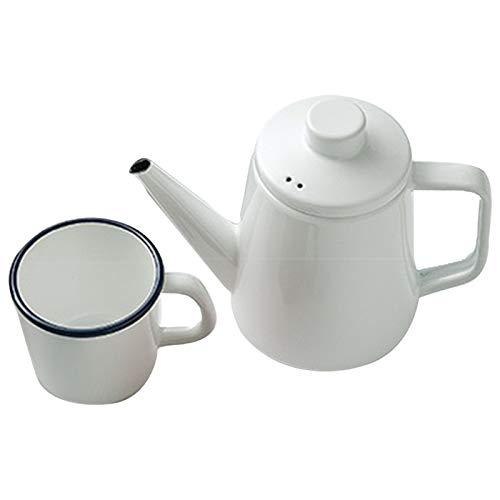 XXXD Sala de Estar en casa de la Taza del Esmalte para Hacer café, té Haciendo Tetera con Olla de Salud 1l Kettle 1.0L