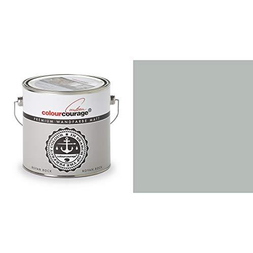 2,5 Liter Colourcourage Premium Wandfarbe Royan Rock Grau   L709449598   geruchslos   tropf- und spritzgehemmt