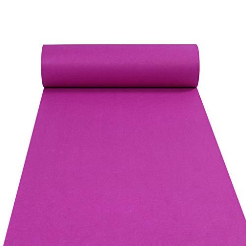 Carpet Runners Alfombra de Boda desechable 2 mm Resistente al Desgaste No sin Pelusa Apto para la inauguración de la exposición Celebraciones Nupciales Alfombra Fucsia (Tamaño : 1m×30m)
