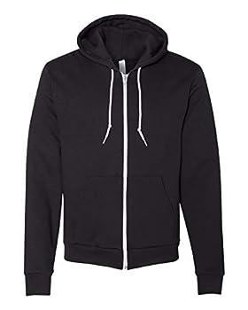 American Apparel Unisex Flex Fleece Zip Hoodie - Black - 3XL