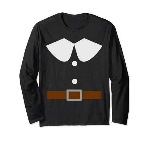 Mr Pilgrim Costume d'Halloween assorti pour couples adultes Manche Longue