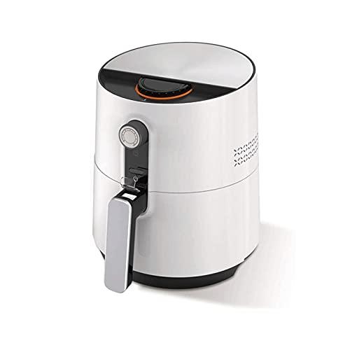DHZYY Freidora eléctrica de Aire +cocción al Horno con Control de Temperatura,Canasta de fritura sin Pegamento,for cocción de bajo Contenido de Aceite sin Aceite 3.6l,1500w,Blanco