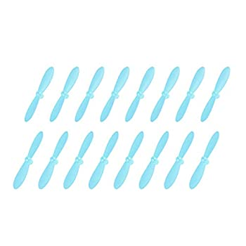 uxcell RC Propellers CW CCW 2-Vane Mini for Cheerson Only CX-10 CX-10A Quadcopter Blue 4 Sets