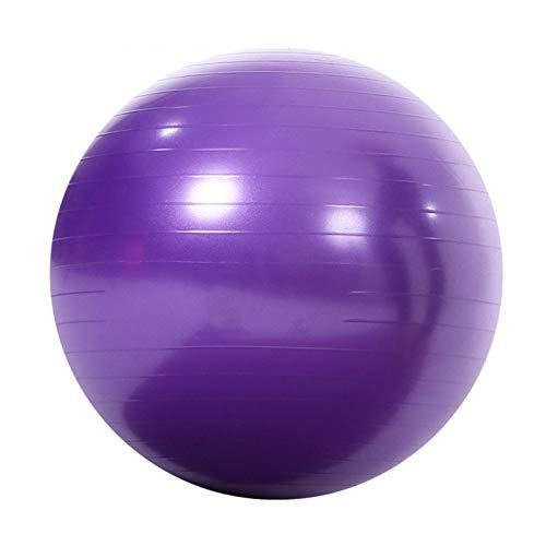 Fitness Bola de Yoga Femenina Engrosamiento a Prueba de explosiones Embarazadas Ejercicio niños Balance de Yoga Diámetro 65 cm,Púrpura