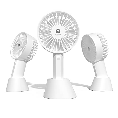 手持ち扇風機 Dremegg ハンディ扇風機 3段階風量 三角度調整 8時間連続運転 小型 強力 USB 充電式 手持ち 卓上 せんぷき ハンディファン 熱中症 暑さ対策 DG-F03 (ホワイト)