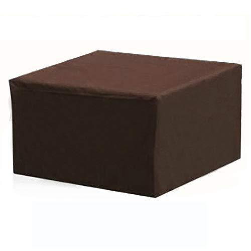 XJHKG Funda para Muebles De Jardín, Impermeable Resistente Al Polvo Protección Cubierta De Mesa De Jardín (210x140x70cm,Marrón)