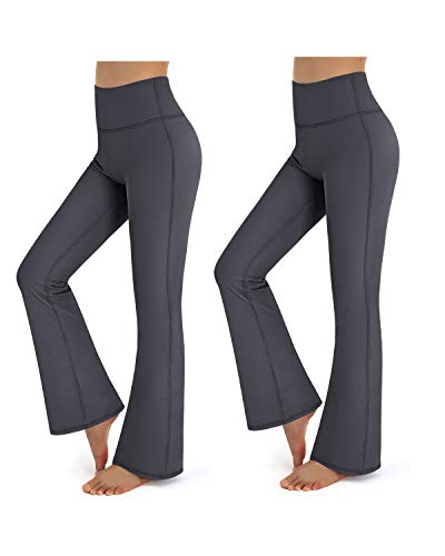 Promover 2 Packs Bootcut Yoga Pants with Pockets Women Sports Trousers High Waist Workout...