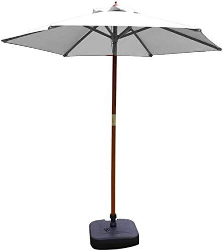 MFLASMF Housewares - Sombrilla para jardín o exterior, sombrilla de jardín con sistema de polea para playa, piscina, patio, protección UV 50+ (tamaño: 2,7 m)