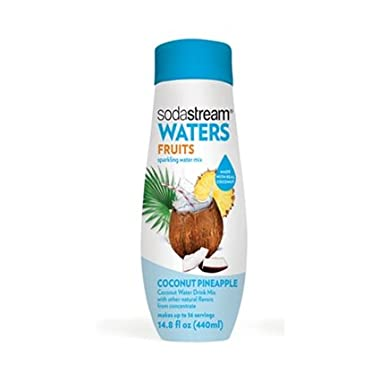 SodaStream Waters Sparkling Water Mix, Coconut Pineapple, 14.8 OZ