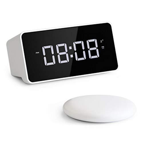 Reloj De Alarma Digital, Lcd Pantalla Reloj Alarma Inteligente Y Con Pantalla De Fecha Y Temperatura Función Despertador Función Snooze Funciones Con Modo De Vibración, Para Niños Adultos