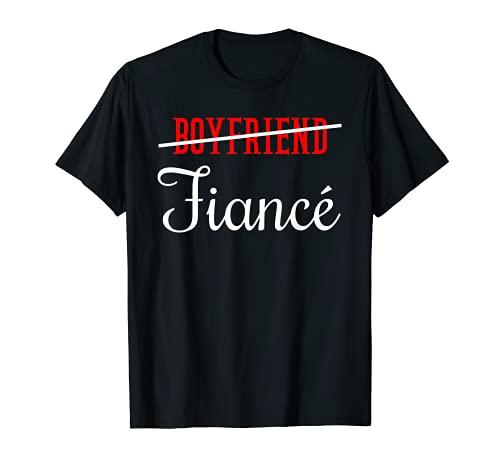 Boyfriend Fiance Engagement Compromiso Camiseta