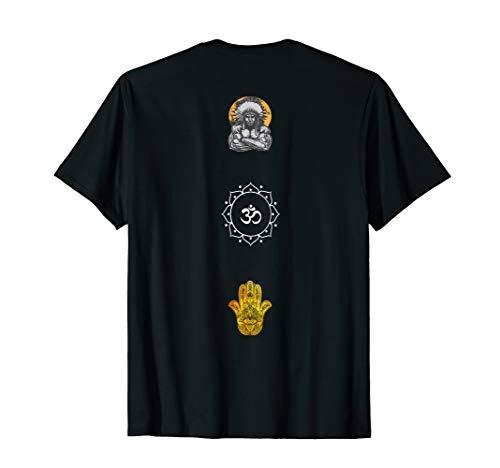 Psychedelisches Goa T-Shirt mit Om-Zeichen & Fatimas Hand