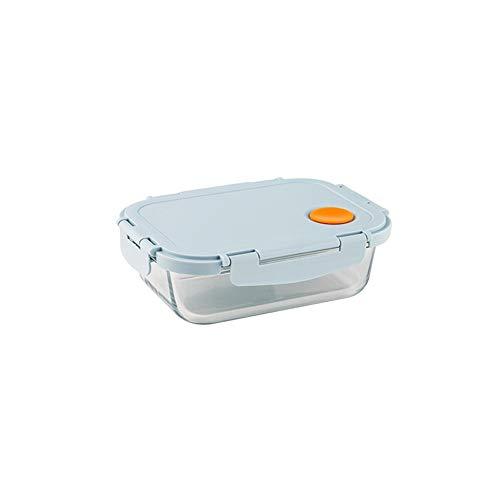 LHTCZZB Un seul compartiment de stockage portable étanche Boîte avec couvercle en verre + PP Matériel de fruits frais de maintien Boîte légumes Boîte Convient for réfrigérateur micro-ondes Chauffage a