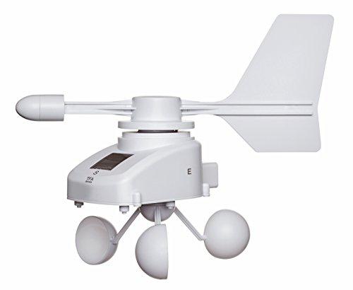 TFA Dostmann Weatherhub Solar-Funk-Windmesser, Überwachung über das Smartphone, weiß