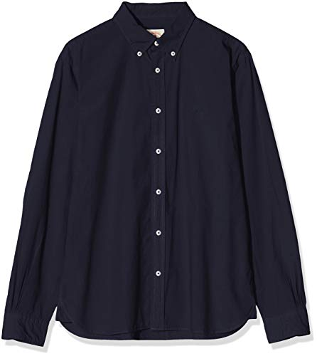 Photo of Brooks Brothers Men's 100115586 Casual Shirt, Blue (Blue 411), Small (Size: S -)