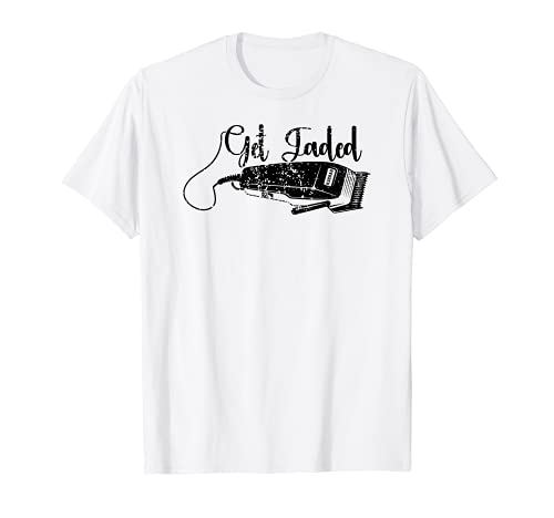 Distressed Barber Get Fadded Hair Trimmer Haircut Vintage T-Shirt