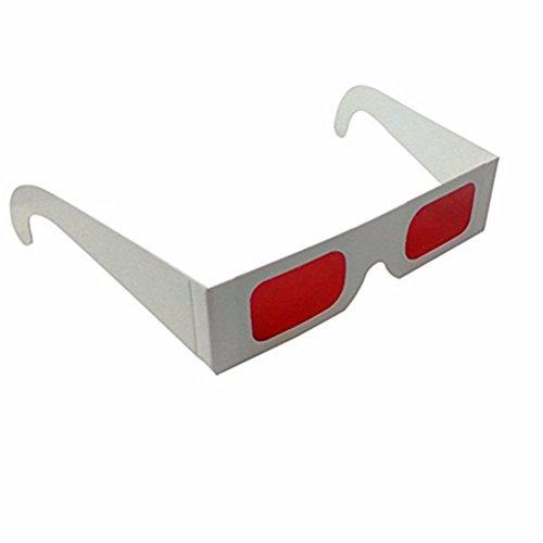 Secret Decoder Brille - Spy Style Brille - Rot Rot Filter Linse-Weiß Farbe Rahmen- (10 Paar Packung)