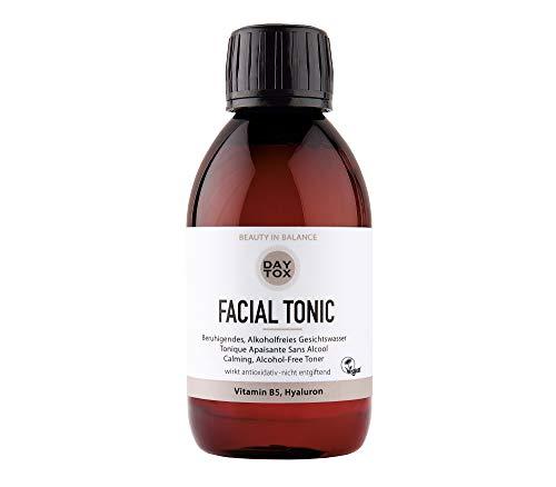 DAYTOX - FACIAL TONIC - Beruhigendes, alkoholfreies Gesichtswasser mit Hyaluron und Vitamin B5 - Vegan, ohne Farbstoffe, silikonfrei und parabenfrei - 200 ml
