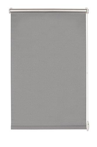 GARDINIA Thermo-Rollo mit Thermo-Rückseite zum Klemmen, Höchste Lichtreflektion, Energiesparend, Lichtundurchlässig, Alle Montage-Teile inklusive, EASYFIX Rollo Thermo, Grau, 90 x 210 cm (BxH)