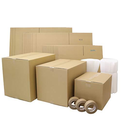 アースダンボール ダンボール 段ボール 引越し 2〜3人用 100サイズ 140サイズ 160サイズ 梱包材 テープ付 【2022】