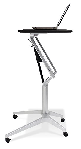 Price comparison product image Unique Furniture Workpad Height Adjustable Laptop Cart Mobile Desk,  with Black Top