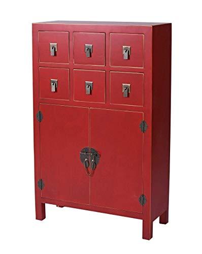 China Highboard Kommode Rot Asia Schrank Dielenschrank Vertiko Schubladenschrank mya003 Palazzo Exklusiv