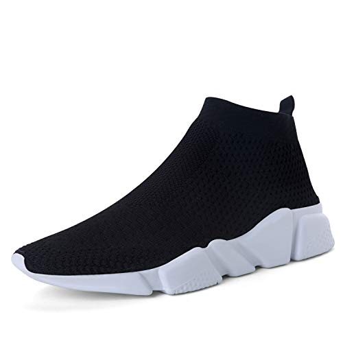 WXQ Women's Running Lightweight Breathable Casual Sports Shoes Fashion Sneakers Walking Shoes Black 39