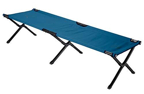 Grand Canyon Topaz Camping Bed L - Lit de Camping Pliable en Aluminium - Lit de Camping Pliable d'extérieur - Bleu foncé (Bleu)