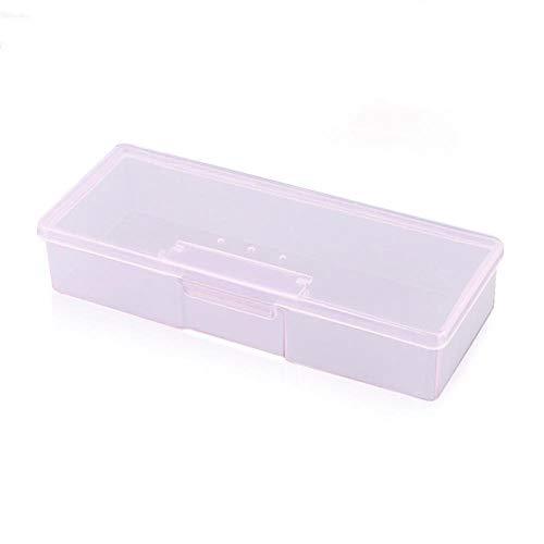 WeiYun Les Petits conteneurs de Stockage en Plastique Outils de manucure spéciale Transparent Nail Art Container Organisateur Gems Pinceau Case,Rose
