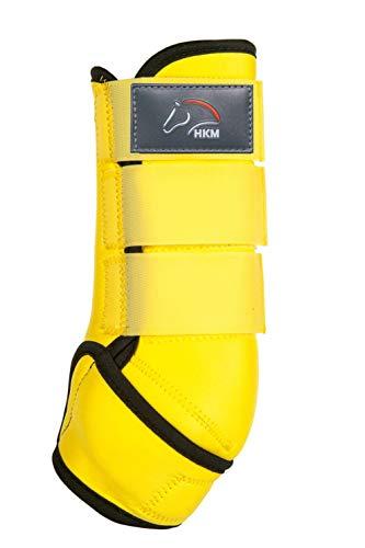 HKM Softoprengamaschen -Colour-, gelb/schwarz, XL