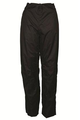 Mountain Warehouse Sovrapantaloni Impermeabili da Donna Spray - Pantaloni Foderati in Rete, Pantaloni Ripstop, sovrapantaloni con Mezza Zip ai Lati - Trekking, Ciclismo Nero 60