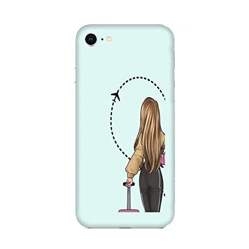 Funda iPhone 6 Carcasa Compatible con Apple iPhone 6 Pareja Enamorados Novio Novia Amor Maleta de Viaje de Medio corazón/TPU Suave Gel de Silicona/Teléfono Hard Snap en Antideslizante antidesliz
