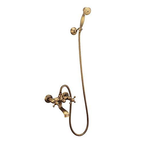 YEZIN Cabeza de Ducha Set de Ducha de Mano de baño de latón Antiguo para Piel Seca y Cabello. (Bath & Shower Faucet Type : Exposed Shower Faucets)