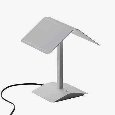 Nelli Marti Luce 817/BI segnal ibro–Lámpara de mesa, aluminio, color blanco
