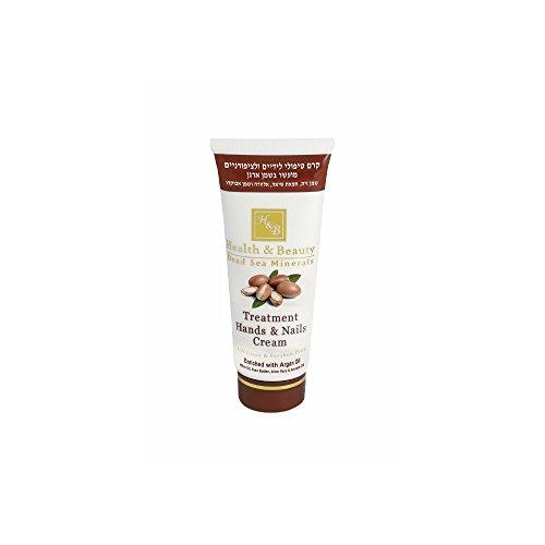 Health & Beauty Mer Morte Crème Multivitaminée pour Traitement des Mains et Ongles Enrichie en Huile d'Argan 100ml