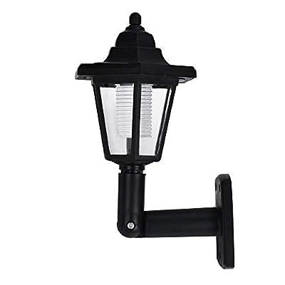 Tthxqing Solar Power LED Light, Hexagonal Wall Ligh, Garden Fence Yard Lamps, for Outdoor Landscape Garden Fence Yard, Waterproof (White)