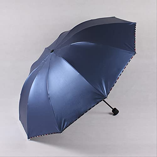 Cuatro Paraguas Plegables Pegamento Negro Protección UV Parasol Parasol Publicidad Paraguas Sunny Rain Paraguas Al por Mayor