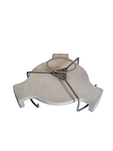 JX Platesetter/Hitzeschild Keramik und Lifter für Ø 46 cm Large Kamado BBQ (ausgezeichnete Alternative zum Beispiel für Conveggtor von B.G.E.)